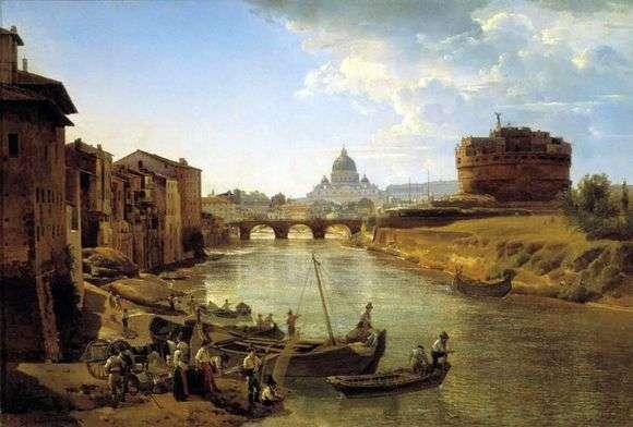 Описание картины Сильвестра Щедрина «Новый Рим. Замок Святого Ангела»