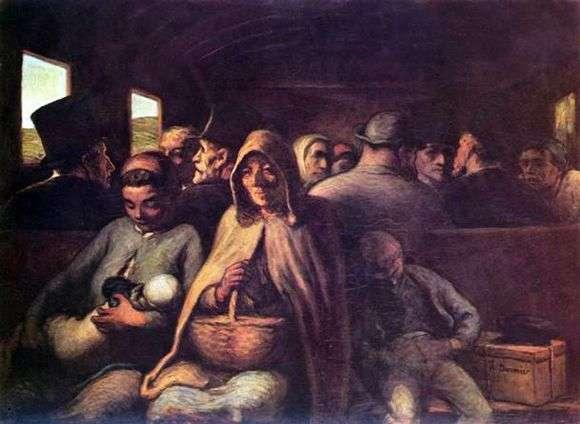 Описание картины Оноре Домье «Вагон третьего класса»