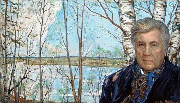 Описание картины Ильи Глазунова «Автопортрет»