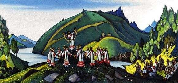 Описание картины Николая Рериха «Весна священная»