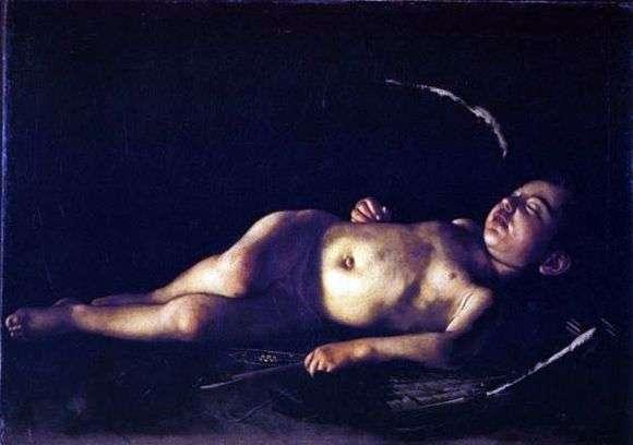 Описание картины Караваджо «Спящий Амур»