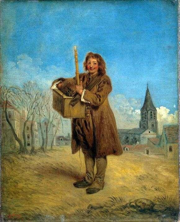 Описание картины Жана Антуана Ватто «Савояр с сурком»