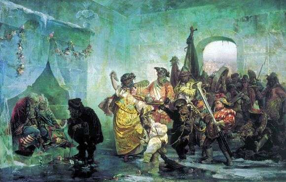 Описание картины Валерия Якоби «Ледяной дом»