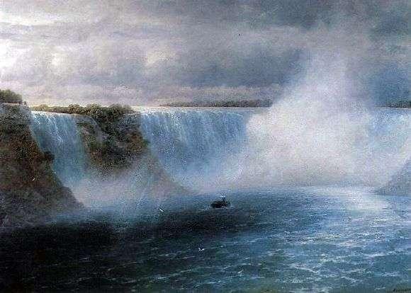 Описание картины Ивана Айвазовского «Ниагарский водопад»