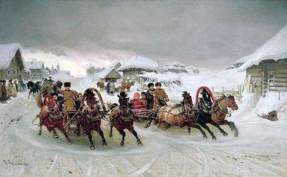 Описание картины Петра Грузинского «Масленица»