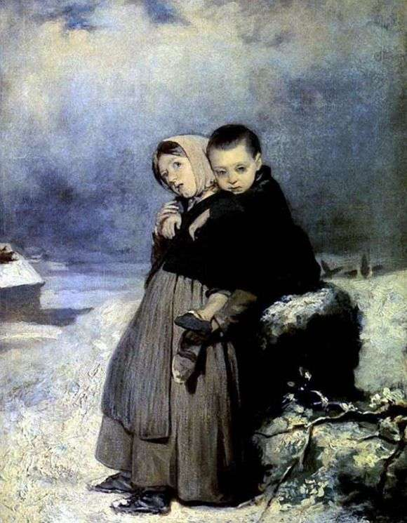 Описание картины Василия Перова «Дети сироты на кладбище»