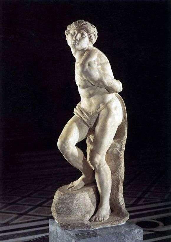 Описание скульптуры Микеланджело «Скованный раб»