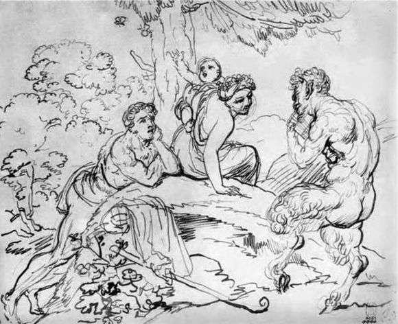 Описание картины Ореста Кипренского «Анакреонова гробница»