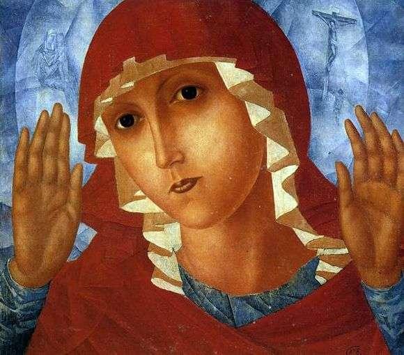 Описание картины Кузьмы Петрова Водкина «Богоматерь умиления злых сердец»