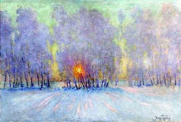 Описание картины Игоря Грабаря «Иней. Восход солнца»