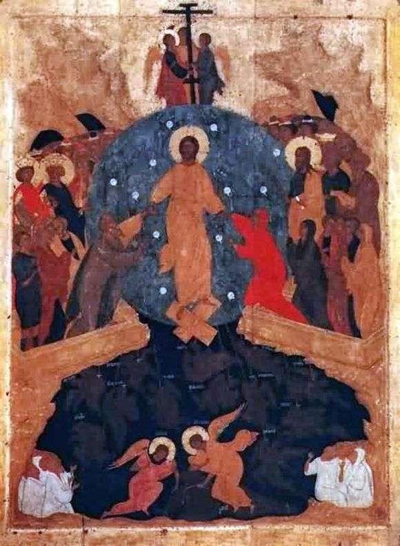Описание иконы Дионисия «Сошествие в Ад»