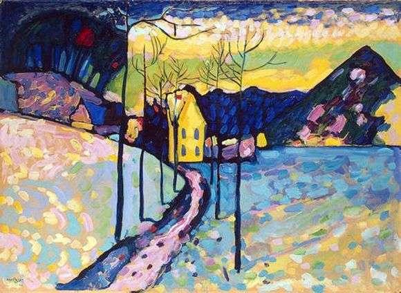 Описание картины Василия Кандинского «Зимний пейзаж»