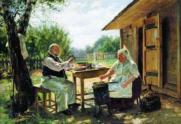 Описание картины Владимира Маковского «Варят варенье»