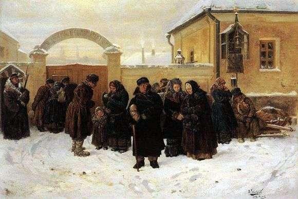 Описание картины Владимира Маковского «Ожидание у острога»