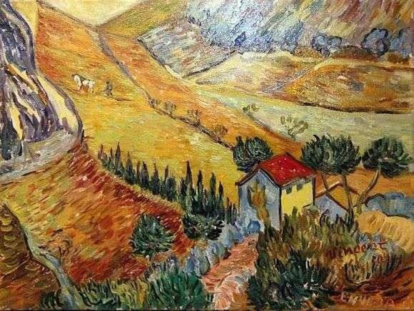 Описание картины Винсента Ван Гога «Пейзаж с домом и пахарем»