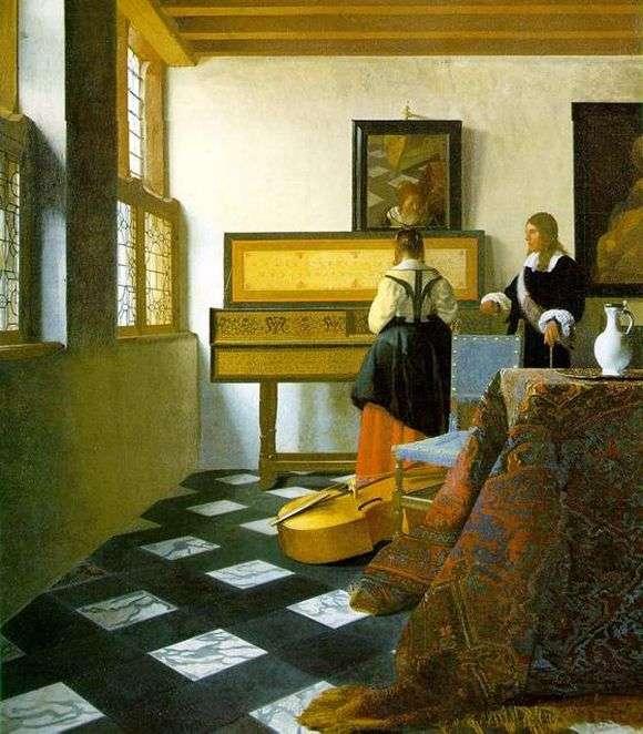 Описание картины Яна Вермеера «Урок музыки»