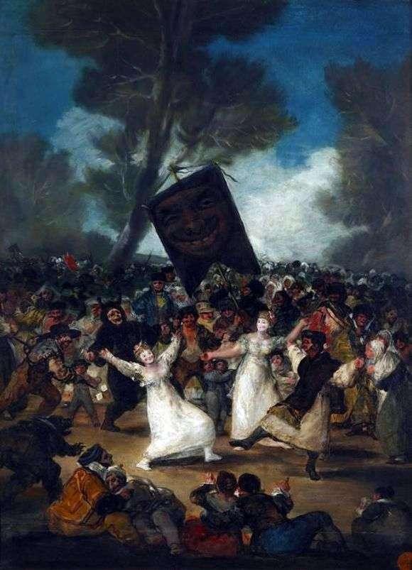 Описание картины Франциско де Гойя «Похороны сардинки»