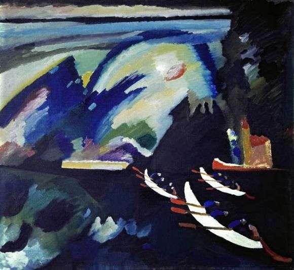 Описание картины Василия Кандидского «Озеро»