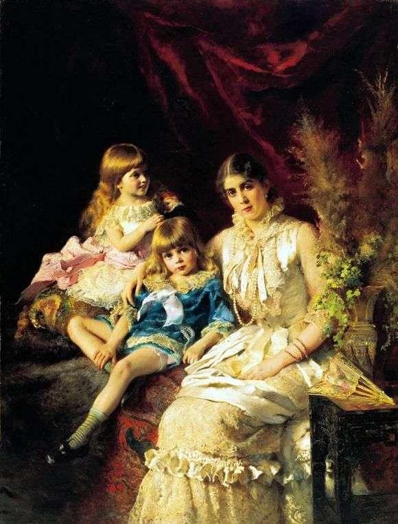 Описание картины Константина Маковского «Семейный портрет»