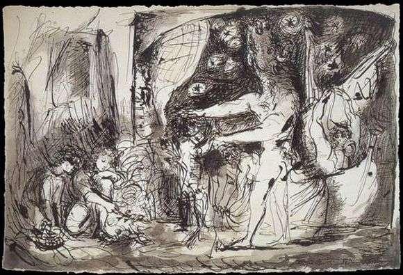 Описание картины Пабло Пикассо «Минотавр»