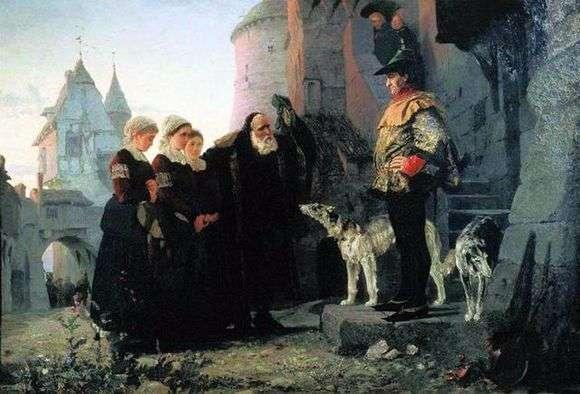 Описание картины Василия Поленова «Право господина»