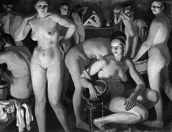 Описание картины Зинаиды Серебряковой «Баня»