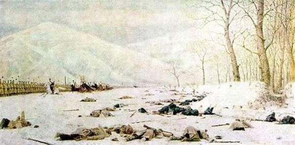 Описание картины Василия Верещагина «Шипка — Шейново. Скобелев под Шипкой»