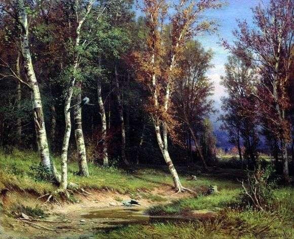 Описание картины Ивана Шишкина «Лес перед грозой»