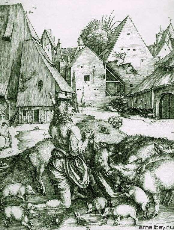 Описание картины Альбрехта Дюрера «Блудный сын»