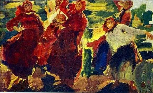 Описание картины Филиппа Малявина «Смех»