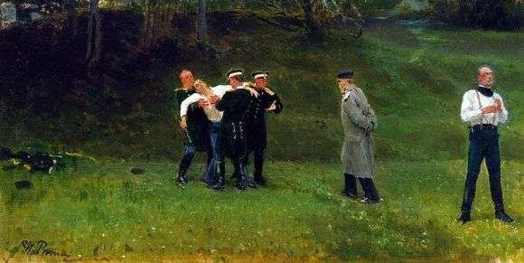 Описание картины Ильи Репина «Дуэль»