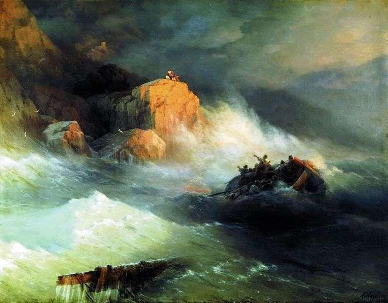 Описание картины Ивана Айвазовского «Кораблекрушение»