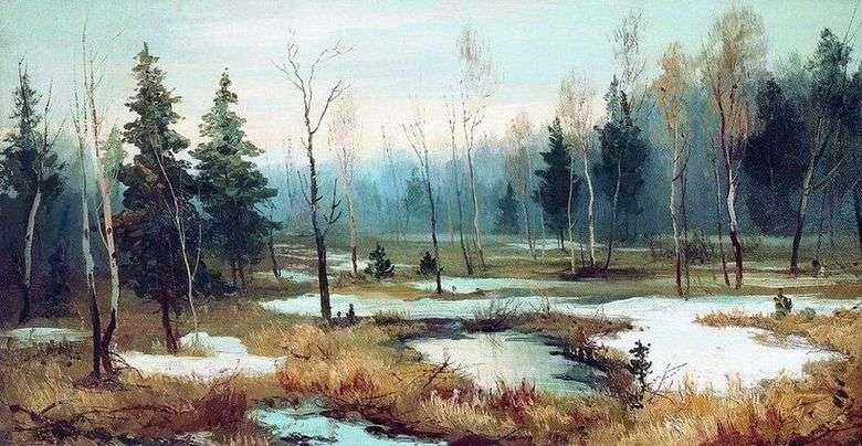 Описание картины Ефима Волкова «В конце зимы»
