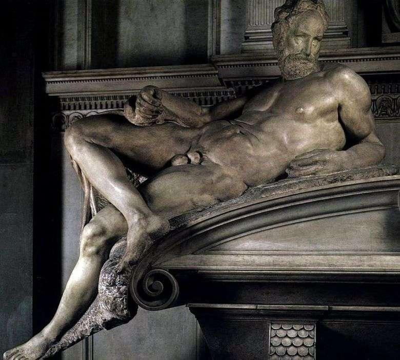 Описание скульптуры Микеланджело «Вечер»