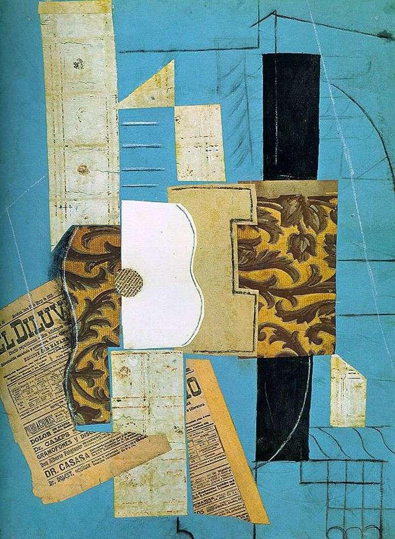 Описание картины Пабло Пикассо «Гитара»