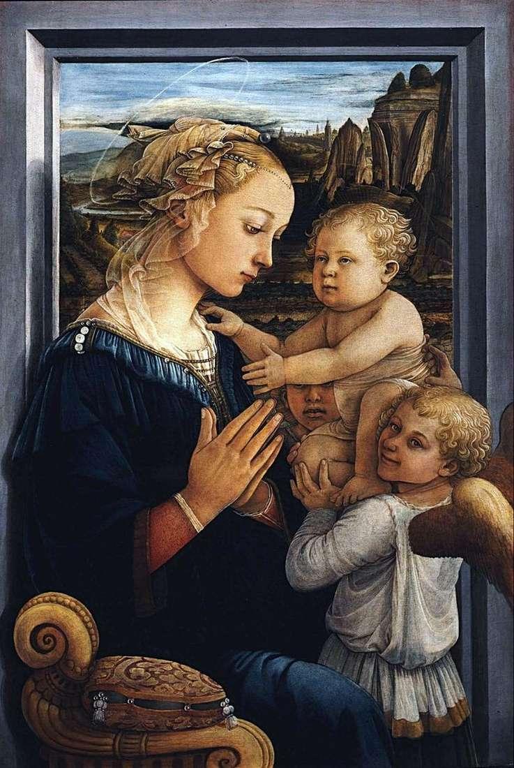 Описание картины Филиппо Липпи ««Мадонна с младенцем и двумя ангелами (Мадонна под вуалью)»