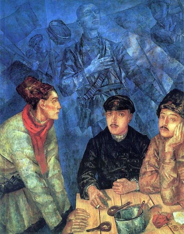 Описание картины Кузьмы Петрова Водкина «После боя»