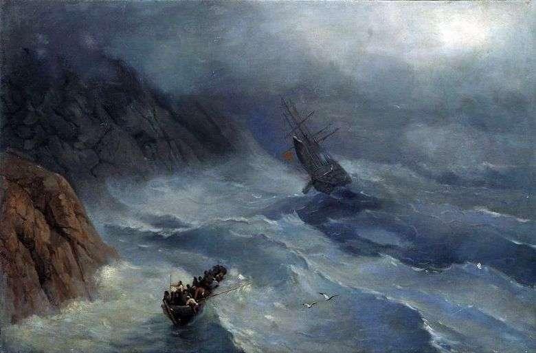 Описание картины Ивана Айвазовского «Бушующее море»