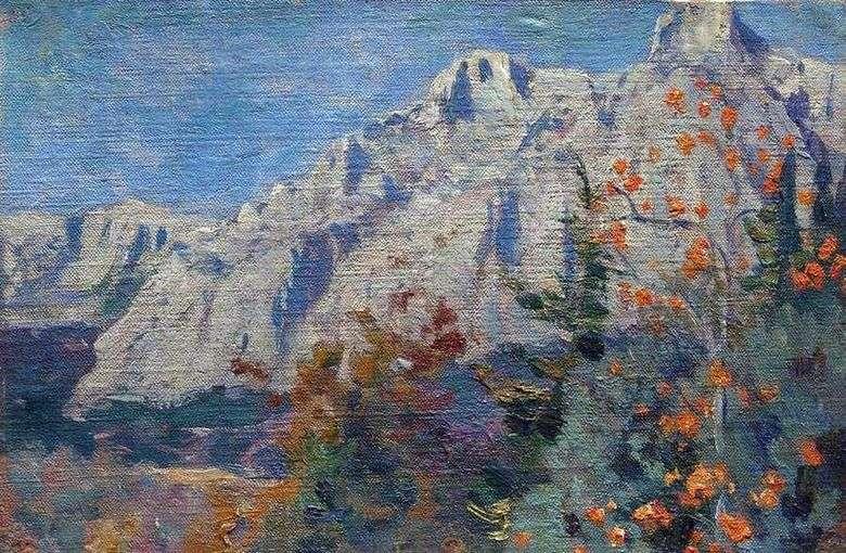 Описание картины Михаила Нестерова «Горы»