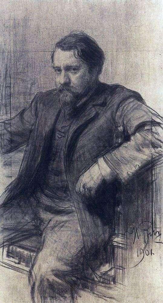 Описание картины Ильи Репина «Портрет художника Серова»
