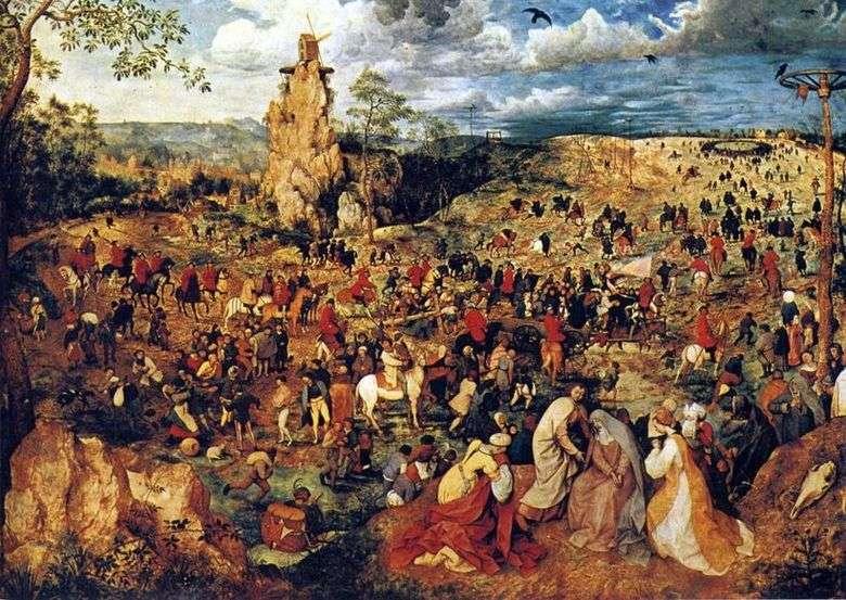 Описание картины Питера Брейгеля «Несение креста (Шествие на Голгофу)»