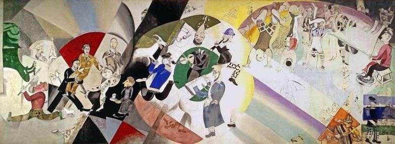 Описание картины Марка Шагала «Введение в Еврейский театр»