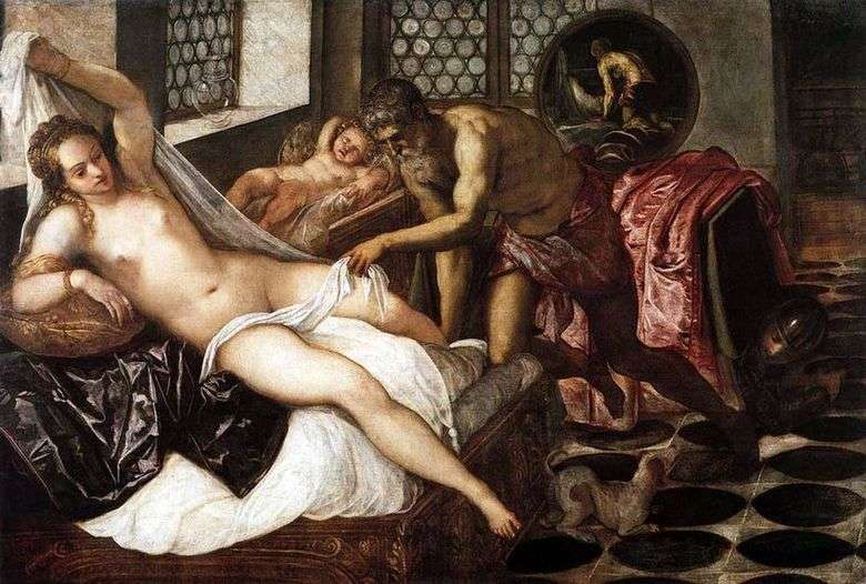Описание картины Якопо Тинторетто «Венера, Вулкан и Марс»
