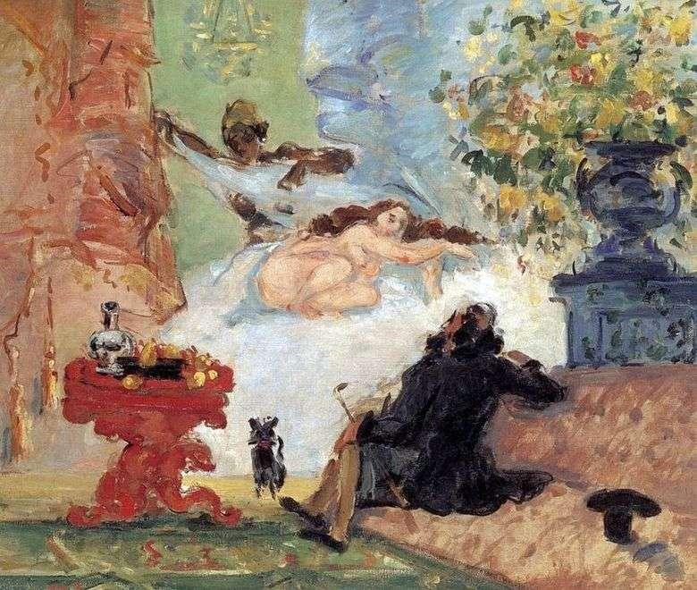 Описание картины Поля Сезанна «Современная Олимпия»