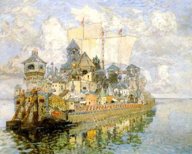 Описание картины Константина Горбатова «Невидимый град Китеж»