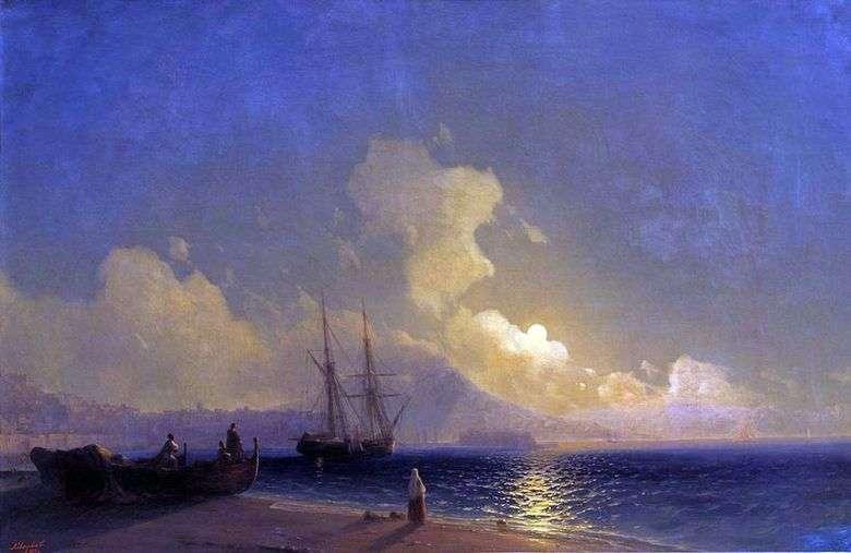 Описание картины Ивана Айвазовского «Ночь на море»