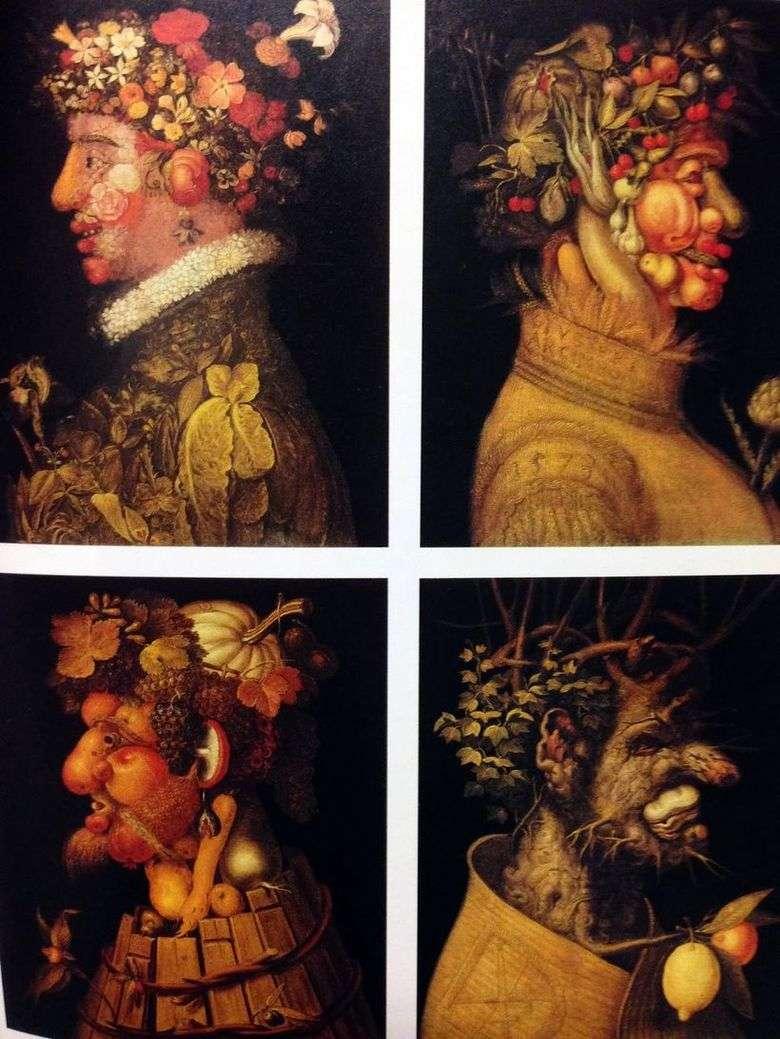 Описание картины Джузеппе Арчимбольдо «Времена года»