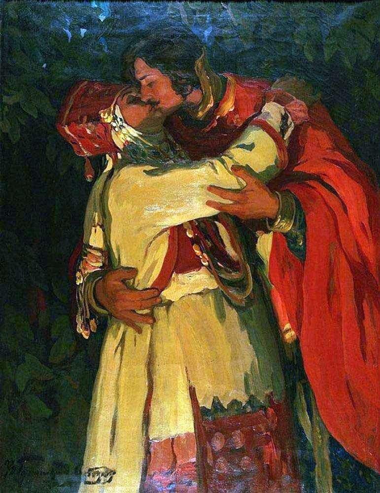 Описание картины Ивана Горюшкина Сорокопудова «Поцелуй»