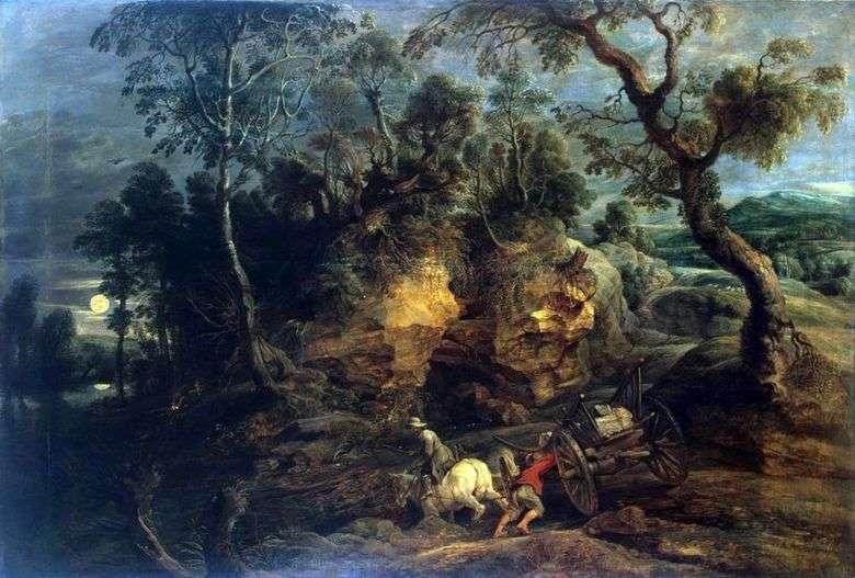 Описание картины Питера Рубенса «Возчики камней»