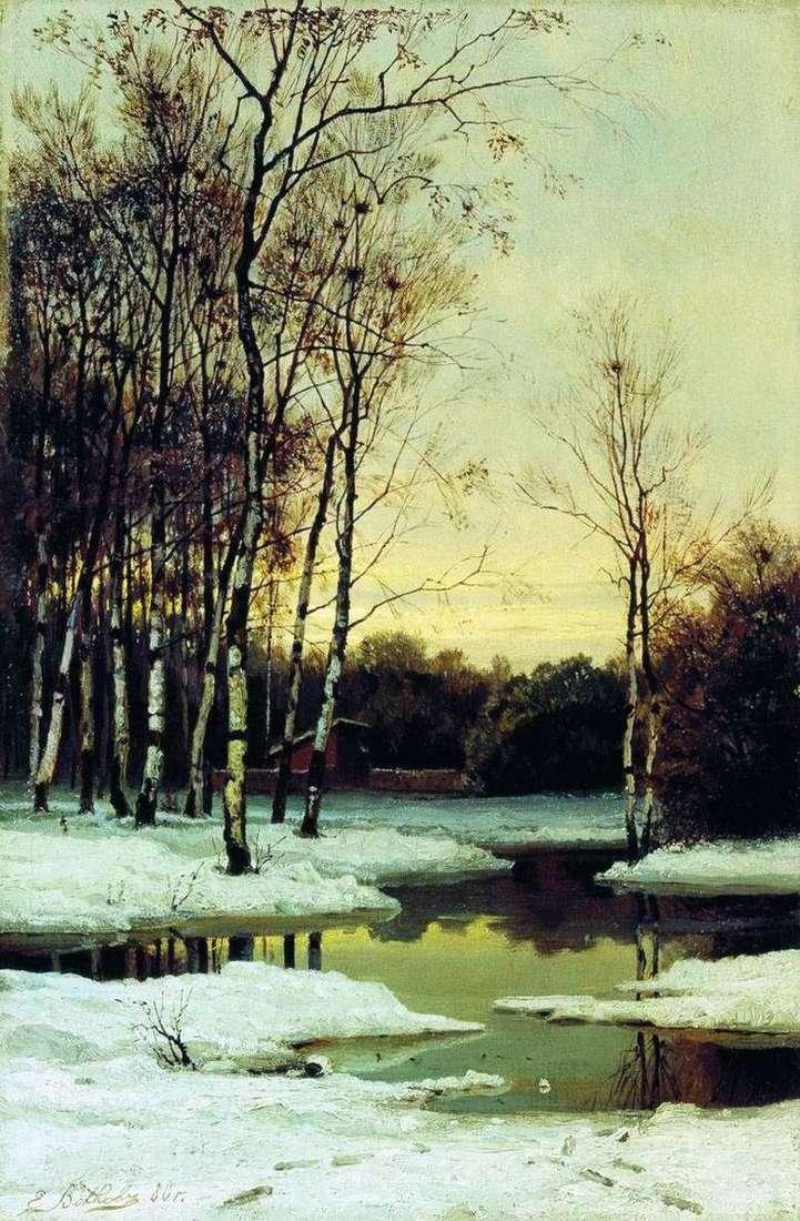 Описание картины Ефима Волкова «Весной»